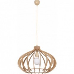Lampa wisząca drewniana IKA D