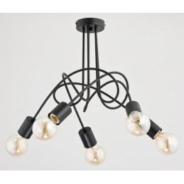 Lampa TANGO BLACK 5pł 23175...