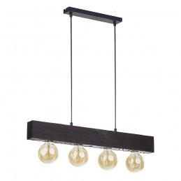 Drewniana lampa wisząca 4...