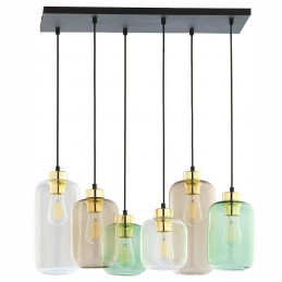 Lampa wisząca 6 szklanych...