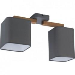 LAMPA SUFITOWA TORA GRAY 2PŁ - 4165