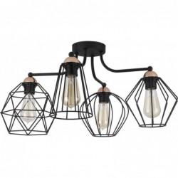 TK LIGHTING LAMPA SUFITOWA GALAXY CZARNY