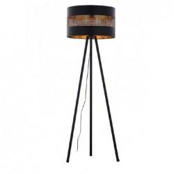 LAMPA PODŁOGOWA TAGO BLACK (CZARNO-ZŁOTA) - 5053