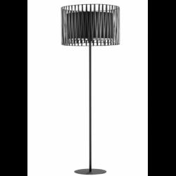 Czarna lampa podłogowa...