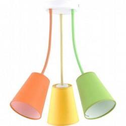 TK LIGHTING LAMPA SUFITOWA WIRE COLOUR   KOLOROWY